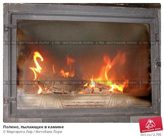 Купить «Полено, пылающее в камине», фото № 2795, снято 30 апреля 2006 г. (c) Маргарита Лир / Фотобанк Лори