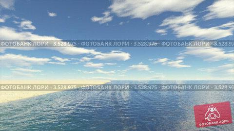 Купить «Полет над песчаным пляжем», видеоролик № 3528975, снято 9 октября 2008 г. (c) Losevsky Pavel / Фотобанк Лори