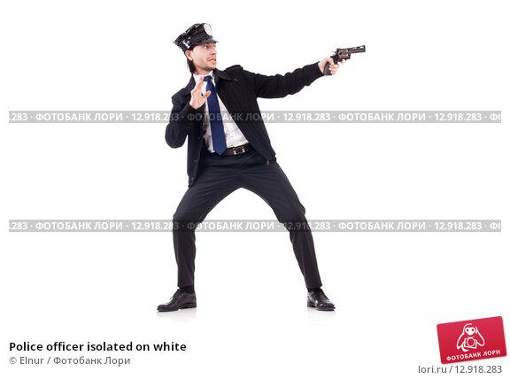 Купить «Police officer isolated on white», фото № 12918283, снято 27 ноября 2013 г. (c) Elnur / Фотобанк Лори