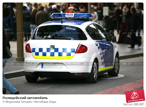Полицейский автомобиль, фото № 300307, снято 20 апреля 2008 г. (c) Морозова Татьяна / Фотобанк Лори
