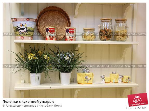 Купить «Полочки с кухонной утварью», фото № 556091, снято 10 ноября 2008 г. (c) Александр Черемнов / Фотобанк Лори