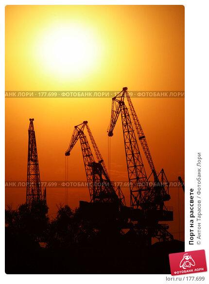 Порт на рассвете, фото № 177699, снято 23 июля 2017 г. (c) Антон Тарасов / Фотобанк Лори