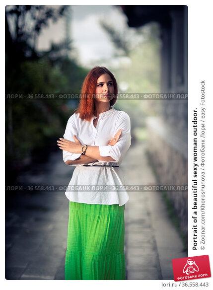Portrait of a beautiful sexy woman outdoor. Стоковое фото, фотограф Zoonar.com/Khoroshunova / easy Fotostock / Фотобанк Лори