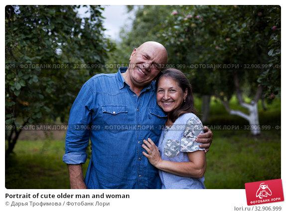 Portrait of cute older man and woman. Стоковое фото, фотограф Дарья Филимонова / Фотобанк Лори