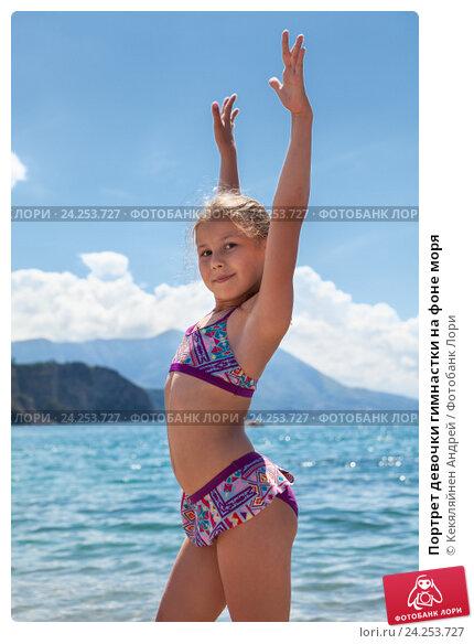 фото гимнастки на фоне моря