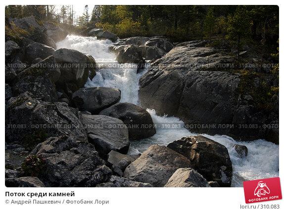 Поток среди камней, фото № 310083, снято 26 мая 2017 г. (c) Андрей Пашкевич / Фотобанк Лори