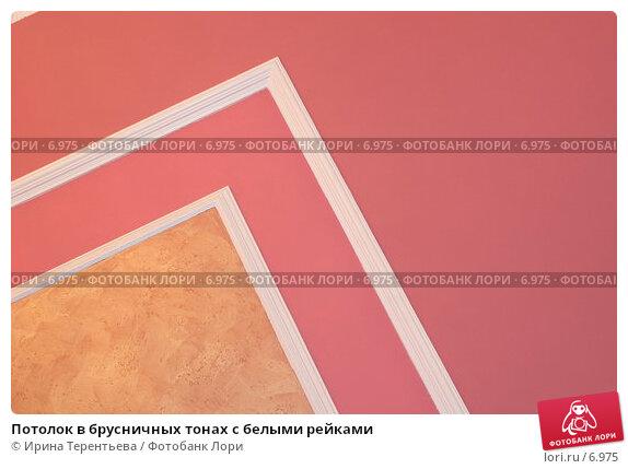 Купить «Потолок в брусничных тонах с белыми рейками», эксклюзивное фото № 6975, снято 21 января 2006 г. (c) Ирина Терентьева / Фотобанк Лори