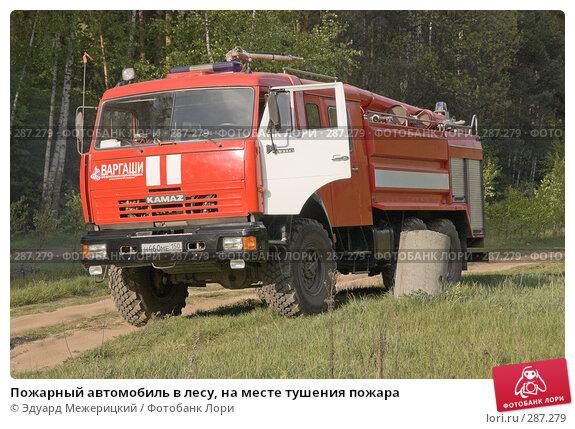 Купить «Пожарный автомобиль в лесу, на месте тушения пожара», фото № 287279, снято 12 мая 2008 г. (c) Эдуард Межерицкий / Фотобанк Лори