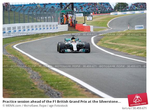 Practice session ahead of the F1 British Grand Prix at the Silverstone... (2017 год). Редакционное фото, фотограф WENN.com / age Fotostock / Фотобанк Лори