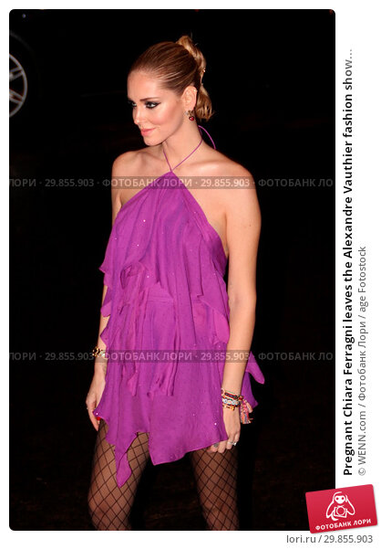 0400f984e35c976 Купить «Pregnant Chiara Ferragni leaves the Alexandre Vauthier fashion show  during Paris Fashion Week Featuring