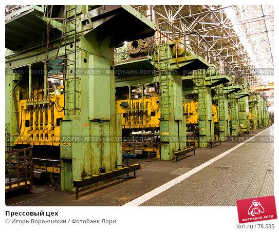 Прессовый цех, фото № 78535, снято 1 сентября 2007 г. (c) Игорь Ворончихин / Фотобанк Лори