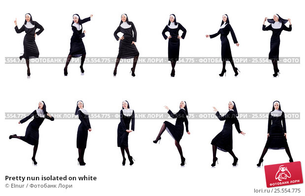Купить «Pretty nun isolated on white», фото № 25554775, снято 1 декабря 2012 г. (c) Elnur / Фотобанк Лори