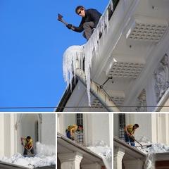Альбом: Уборка снега с крыш домов
