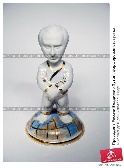 Купить «Президент России Владимир Путин, фарфоровая статуэтка», эксклюзивное фото № 204047, снято 17 февраля 2008 г. (c) Александр Щепин / Фотобанк Лори