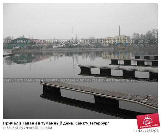 Причал в Гавани в туманный день. Санкт-Петербург, фото № 265927, снято 14 апреля 2008 г. (c) Заноза-Ру / Фотобанк Лори