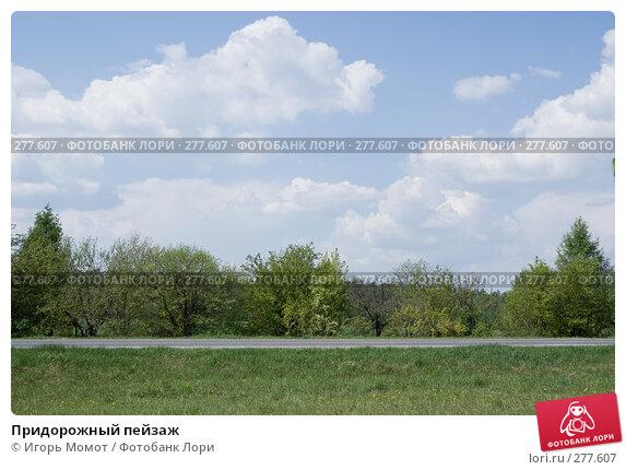 Придорожный пейзаж, фото № 277607, снято 7 мая 2008 г. (c) Игорь Момот / Фотобанк Лори