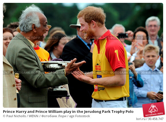 Prince Harry and Prince William play in the Jerudong Park Trophy Polo (2017 год). Редакционное фото, фотограф Paul Nicholls / WENN / age Fotostock / Фотобанк Лори