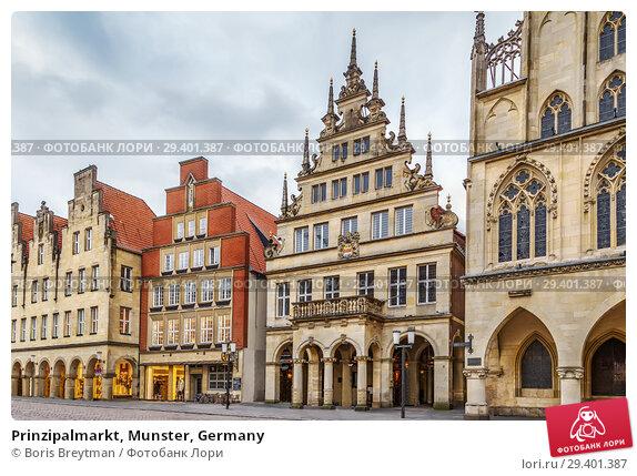 Купить «Prinzipalmarkt, Munster, Germany», фото № 29401387, снято 3 февраля 2018 г. (c) Boris Breytman / Фотобанк Лори