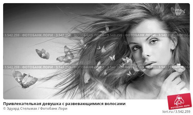 Купить «Привлекательная девушка с развевающимися волосами», фото № 3542259, снято 10 апреля 2008 г. (c) Эдуард Стельмах / Фотобанк Лори