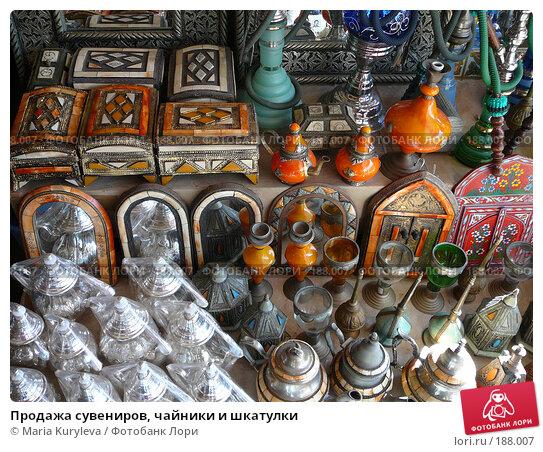 Продажа сувениров, чайники и шкатулки, фото № 188007, снято 25 ноября 2007 г. (c) Maria Kuryleva / Фотобанк Лори