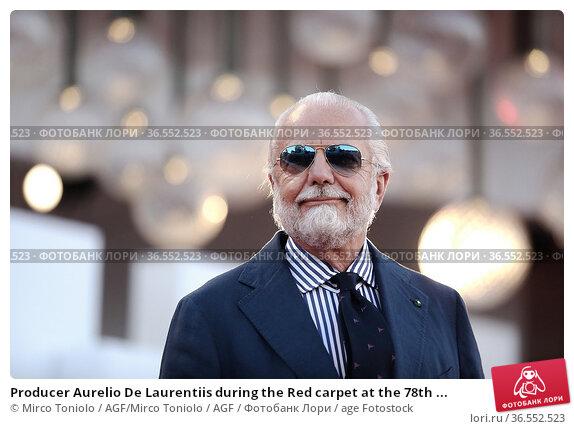 Producer Aurelio De Laurentiis during the Red carpet at the 78th ... Редакционное фото, фотограф Mirco Toniolo / AGF/Mirco Toniolo / AGF / age Fotostock / Фотобанк Лори