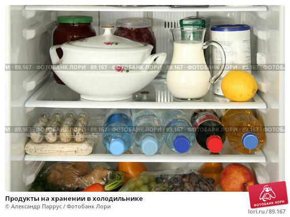 Продукты на хранении в холодильнике, фото № 89167, снято 26 сентября 2007 г. (c) Александр Паррус / Фотобанк Лори
