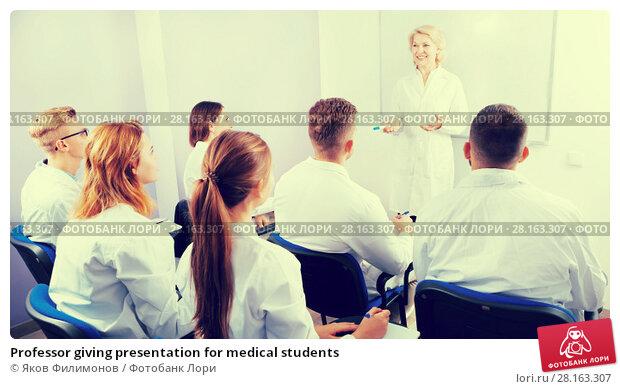 Купить «Professor giving presentation for medical students», фото № 28163307, снято 5 октября 2017 г. (c) Яков Филимонов / Фотобанк Лори