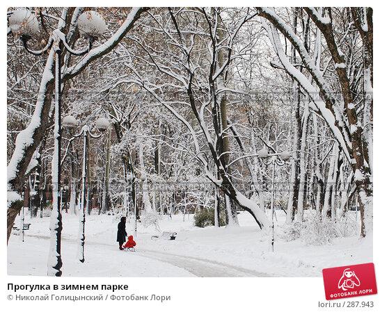 Прогулка в зимнем парке, фото № 287943, снято 12 ноября 2007 г. (c) Николай Голицынский / Фотобанк Лори