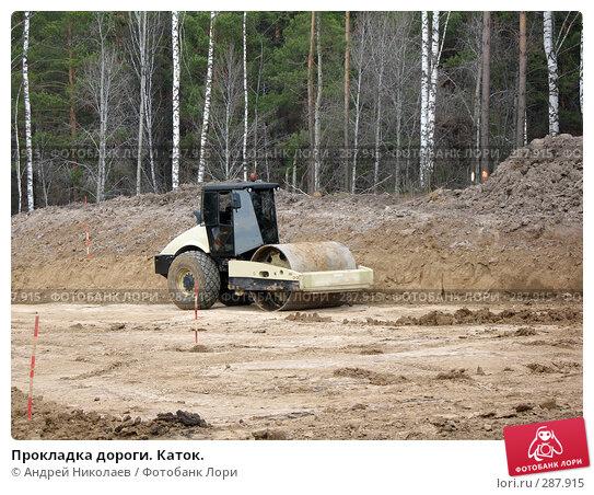 Прокладка дороги. Каток., фото № 287915, снято 8 мая 2008 г. (c) Андрей Николаев / Фотобанк Лори