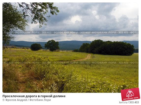 Проселочная дорога в горной долине, фото № 303403, снято 25 мая 2008 г. (c) Фролов Андрей / Фотобанк Лори