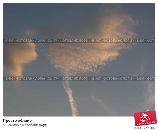 Купить «Просто облако», фото № 43407, снято 27 августа 2006 г. (c) Рамиль / Фотобанк Лори