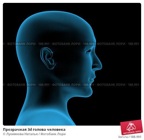 Купить «Прозрачная 3d голова человека», иллюстрация № 188991 (c) Лукиянова Наталья / Фотобанк Лори