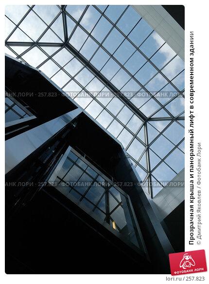 Прозрачная крыша и панорамный лифт в современном здании, фото № 257823, снято 10 апреля 2008 г. (c) Дмитрий Яковлев / Фотобанк Лори