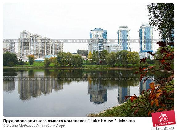 """Пруд около элитного жилого комплекса """" Lake house """".  Москва., фото № 63443, снято 12 октября 2006 г. (c) Ирина Мойсеева / Фотобанк Лори"""