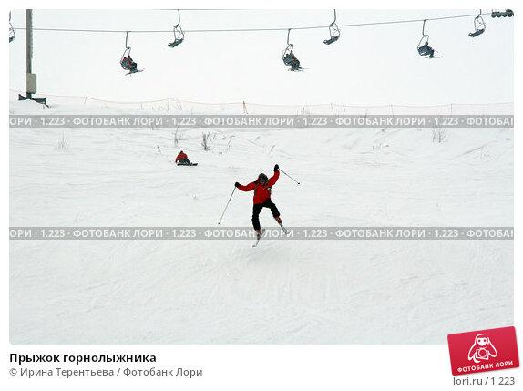 Прыжок горнолыжника , эксклюзивное фото № 1223, снято 22 февраля 2006 г. (c) Ирина Терентьева / Фотобанк Лори