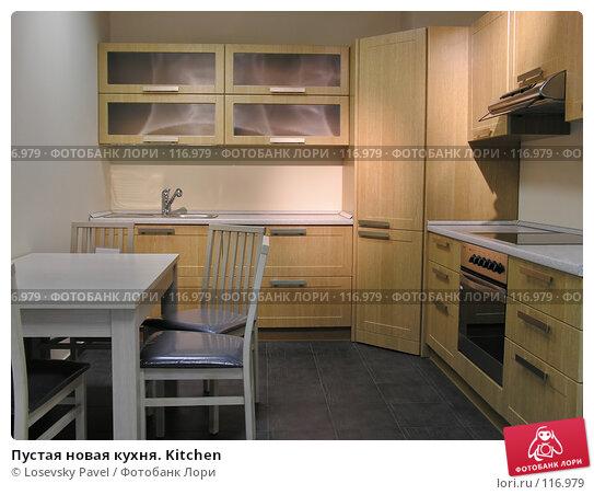 Пустая новая кухня. Kitchen, фото № 116979, снято 5 марта 2006 г. (c) Losevsky Pavel / Фотобанк Лори