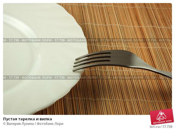 Купить «Пустая тарелка и вилка», фото № 17739, снято 29 января 2007 г. (c) Валерия Потапова / Фотобанк Лори