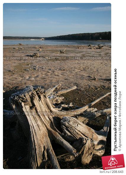 Пустынный берег озера поздней осенью, фото № 208643, снято 10 ноября 2007 г. (c) Архипова Мария / Фотобанк Лори