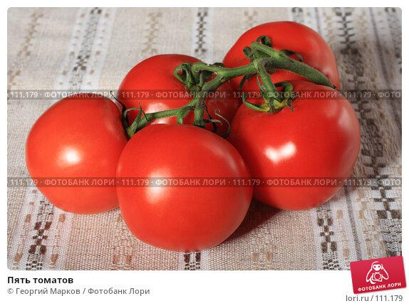 Пять томатов, фото № 111179, снято 20 октября 2007 г. (c) Георгий Марков / Фотобанк Лори