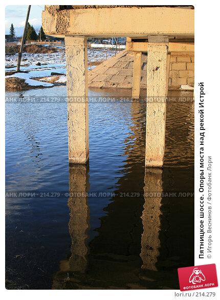 Пятницкое шоссе. Опоры моста над рекой Истрой, фото № 214279, снято 7 апреля 2007 г. (c) Игорь Веснинов / Фотобанк Лори