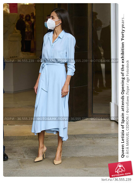 Queen Letizia of Spain attends Opening of the exhibition 'Forty years... Редакционное фото, фотограф ©MANUEL CEDRON / age Fotostock / Фотобанк Лори