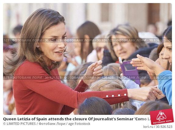 Купить «Queen Letizia of Spain attends the closure Of Journalist's Seminar 'Como Los Medios De Comunicacion Pueden Ayudar A Repoblar La España Rural' on June 12, 2019 in Burgo de Osma, Spain», фото № 30926523, снято 12 июня 2019 г. (c) age Fotostock / Фотобанк Лори