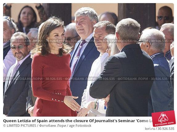 Купить «Queen Letizia of Spain attends the closure Of Journalist's Seminar 'Como Los Medios De Comunicacion Pueden Ayudar A Repoblar La España Rural' on June 12, 2019 in Burgo de Osma, Spain», фото № 30926535, снято 12 июня 2019 г. (c) age Fotostock / Фотобанк Лори