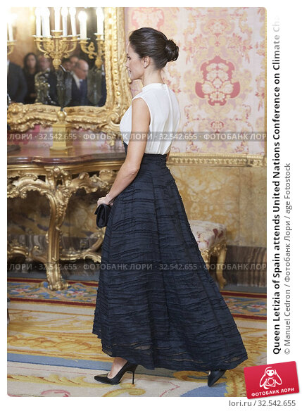 Купить «Queen Letizia of Spain attends United Nations Conference on Climate Change (COP25) reception at Royal Palace on December 2, 2019 in Madrid, Spain», фото № 32542655, снято 2 декабря 2019 г. (c) age Fotostock / Фотобанк Лори