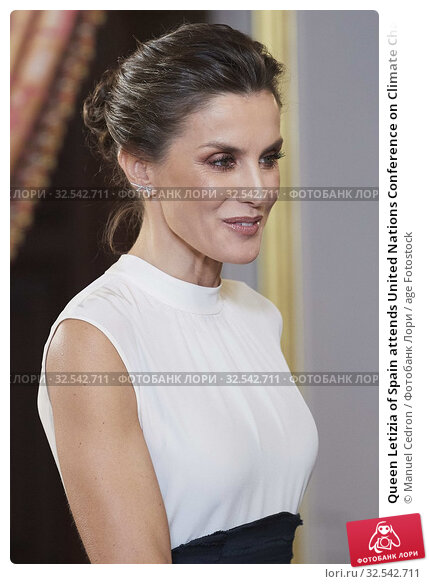 Купить «Queen Letizia of Spain attends United Nations Conference on Climate Change (COP25) reception at Royal Palace on December 2, 2019 in Madrid, Spain», фото № 32542711, снято 2 декабря 2019 г. (c) age Fotostock / Фотобанк Лори