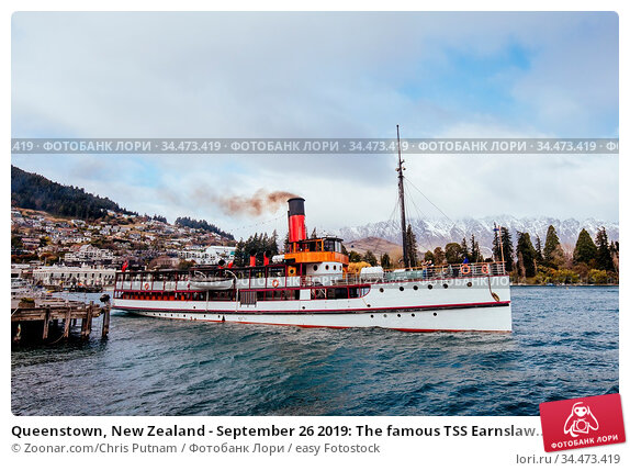 Queenstown, New Zealand - September 26 2019: The famous TSS Earnslaw... Стоковое фото, фотограф Zoonar.com/Chris Putnam / easy Fotostock / Фотобанк Лори
