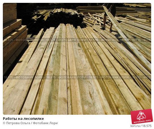 Работы на лесопилке, фото № 18575, снято 19 июля 2006 г. (c) Петрова Ольга / Фотобанк Лори
