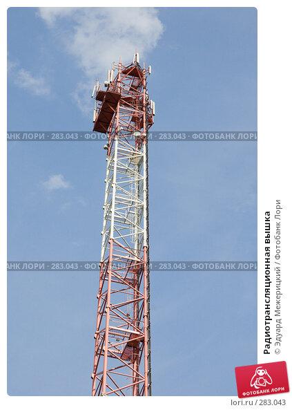 Радиотрансляционная вышка, фото № 283043, снято 12 мая 2008 г. (c) Эдуард Межерицкий / Фотобанк Лори