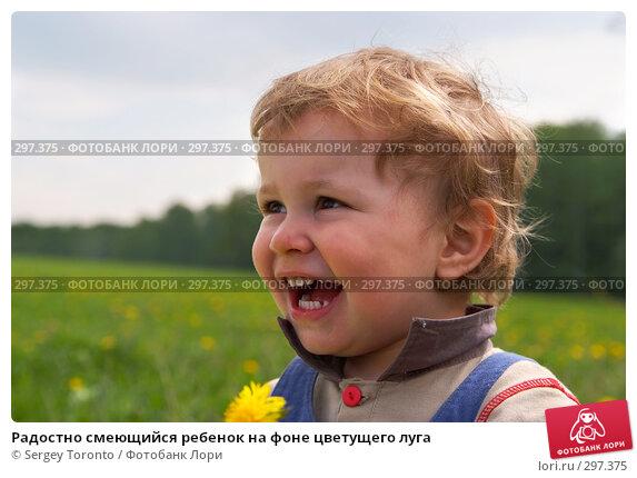 Радостно смеющийся ребенок на фоне цветущего луга, фото № 297375, снято 11 мая 2008 г. (c) Sergey Toronto / Фотобанк Лори
