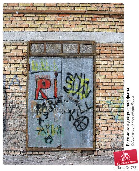 Расписная дверь граффити, фото № 34763, снято 22 апреля 2007 г. (c) Alexander / Фотобанк Лори